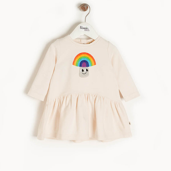 ETOILE - Kids Applique Dress  RAINBOW MUSHROOM - The bonniemob
