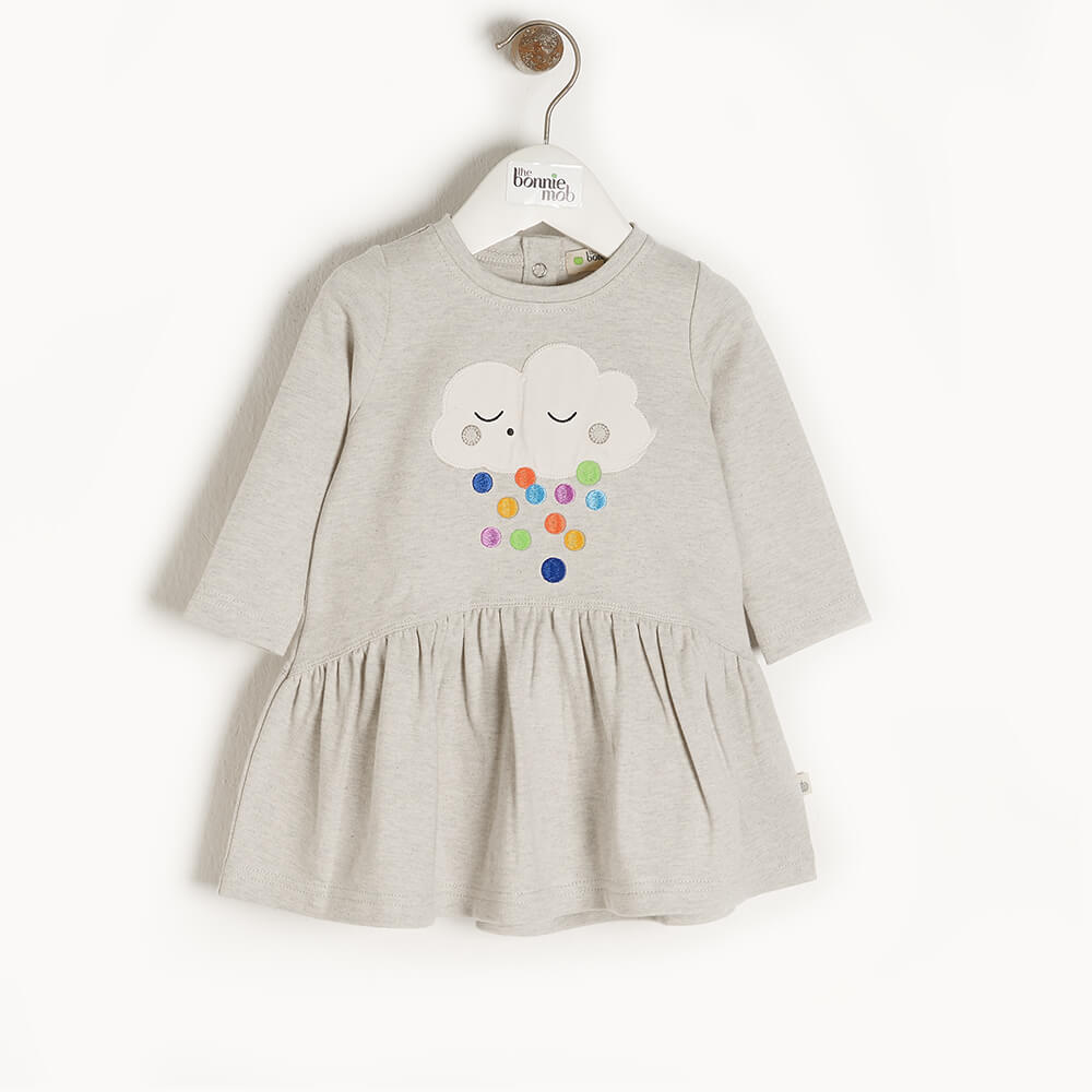 ETOILE - Baby Applique Dress RAINCLOUD - The bonniemob