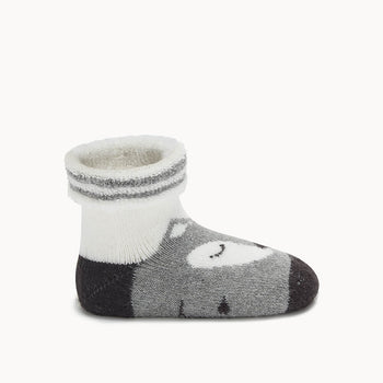 FOXY - Baby Fox Baby Bootie GREY - The bonniemob