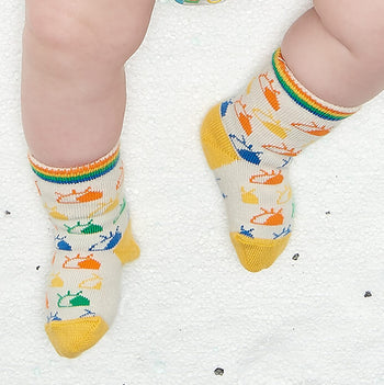FROLIC - Baby Rainbow Eyes Ankle Socks RAINBOW - The bonniemob