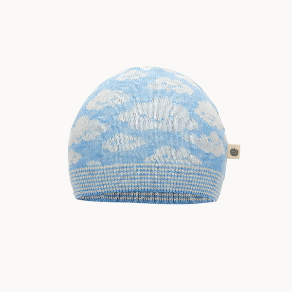HEAVENLY - Baby Jaquard Hat BLUE - The bonniemob
