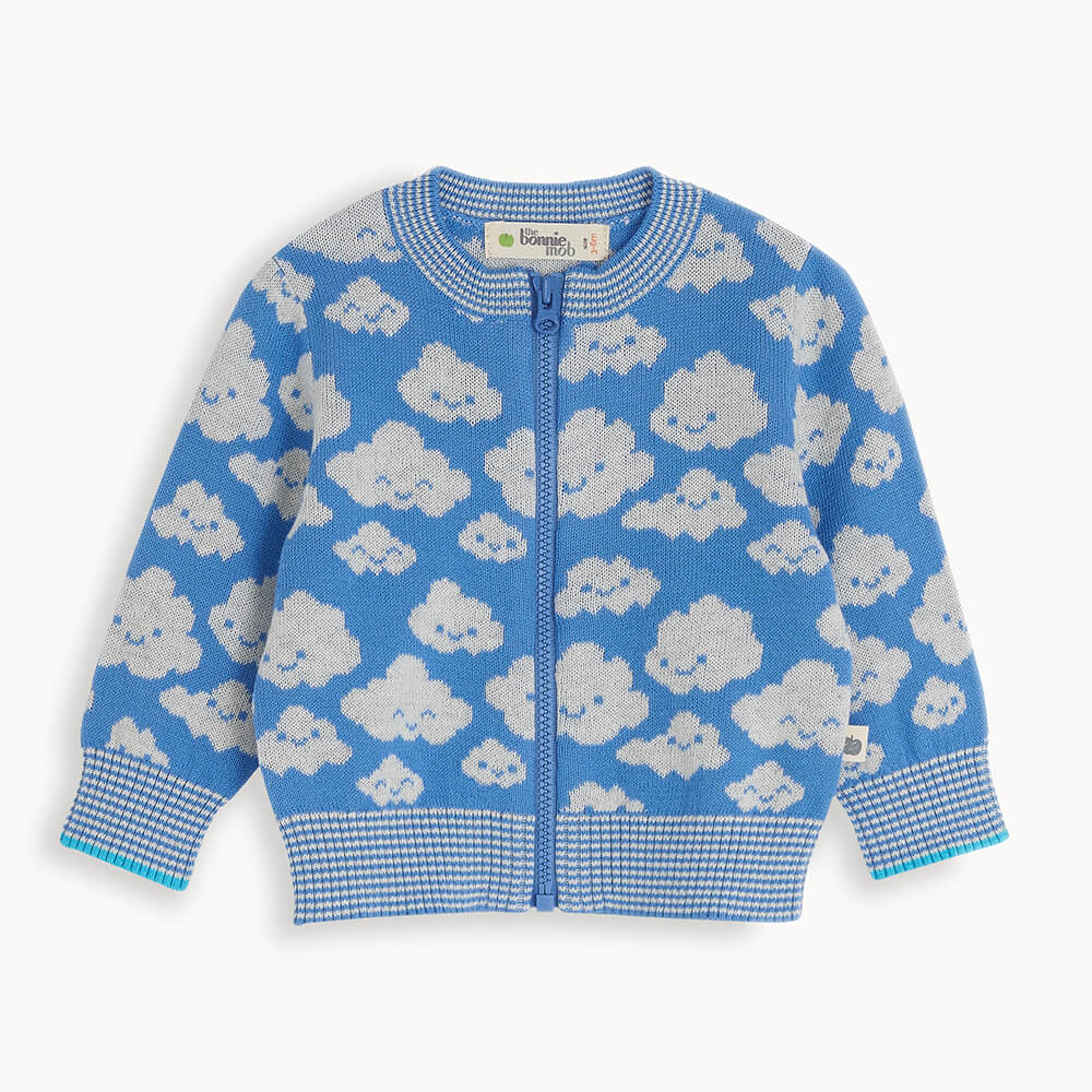 HOLLYWOOD - Baby Cloud Cardigan BLUE - The bonniemob