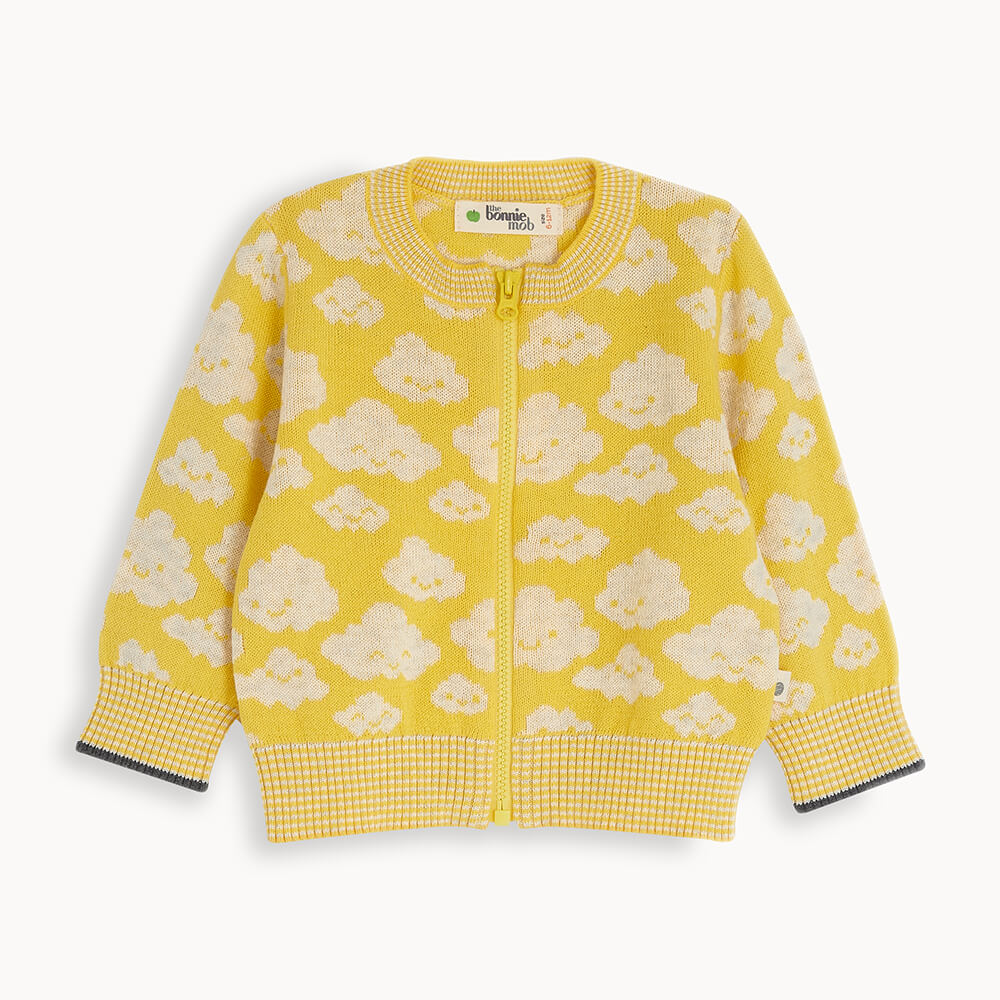 HOLLYWOOD - Kids Cloud Cardigan YELLOW - The bonniemob