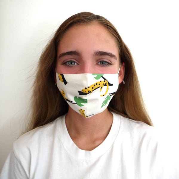 FACEMASK - Organic cotton- LEOPARD print - The bonniemob