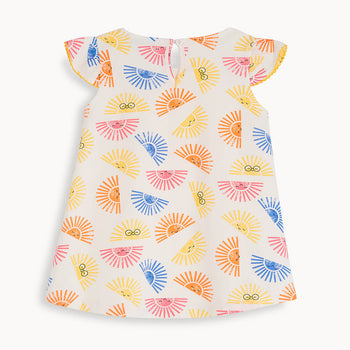 LIDO - Baby Dress With Frill Shoulder SUNSHINE - The bonniemob