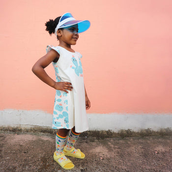 LIDO - Kids Dress With Frill Shoulder CACTUS - The bonniemob