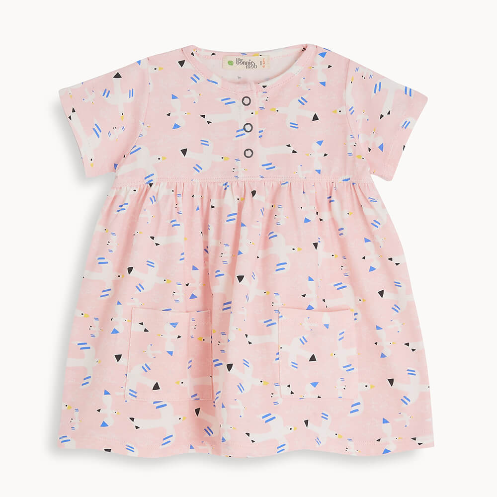 LOLL - Baby Printed Dress With Pockets FREE BIRD - The bonniemob