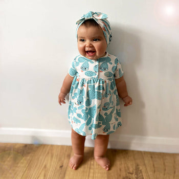 LOLL - Baby Printed Dress With Pockets CACTUS - The bonniemob