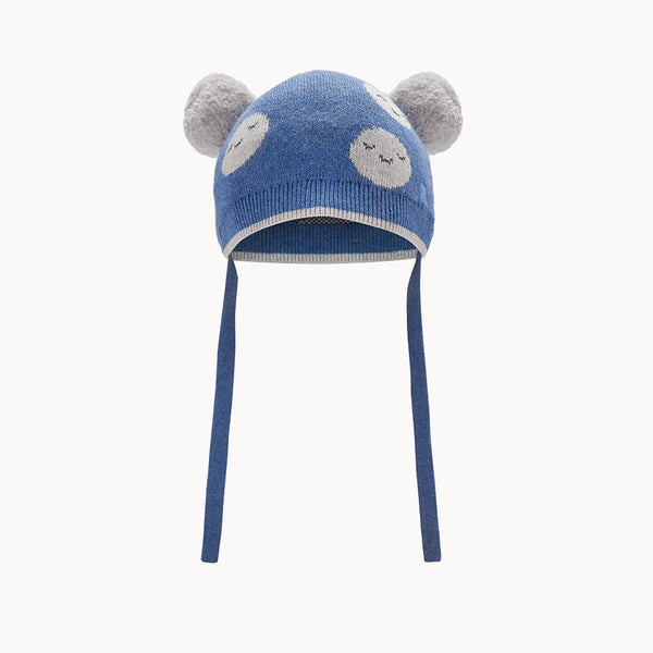 MARS - Baby Moon Jaquard Pom Pom Hat BLUE - The bonniemob