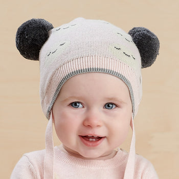 MARS - Baby Moon Jaquard Pom Pom Hat PINK - The bonniemob