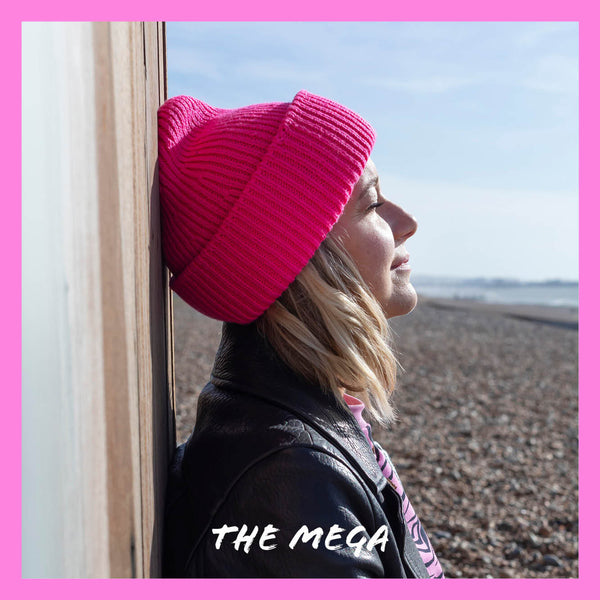 ZOE - MEGA - Chunky Knitted Hat - FLUO PINK - The bonniemob
