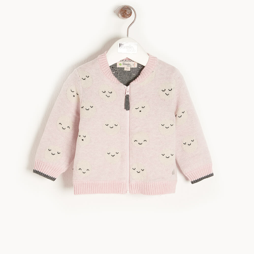 MERCURY - Baby Moon Jaquard Cardigan PINK - The bonniemob