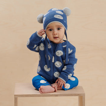 MERCURY - Baby Moon Jaquard Cardigan BLUE - The bonniemob