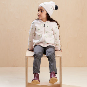 MERCURY - Kids Moon Jaquard Cardigan  PINK - The bonniemob