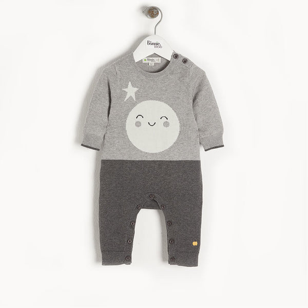MILKY WAY - Baby Moon Intarsia Playsuit GREY - The bonniemob