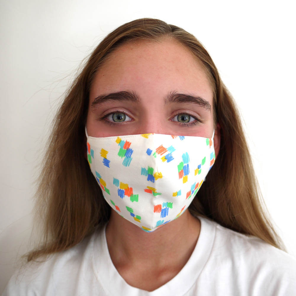 FACEMASK - Organic cotton- SCRIBBLE print - The bonniemob