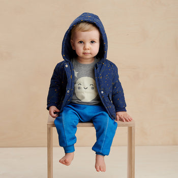 ORBIT - Baby Cosmos Jacket NAVY - The bonniemob