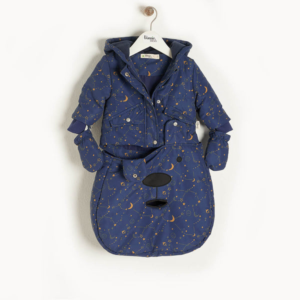 OBI - Baby Cosmos Pramsuit NAVY - The bonniemob