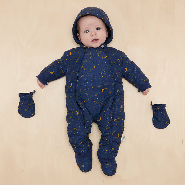 ORION - Baby Cosmos Snowsuit NAVY - The bonniemob