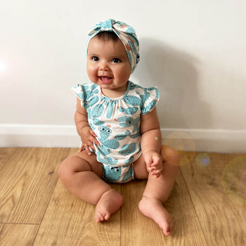 PACIFIC - Baby Frill Sleeve Top And Bloomer Set CACTUS - The bonniemob
