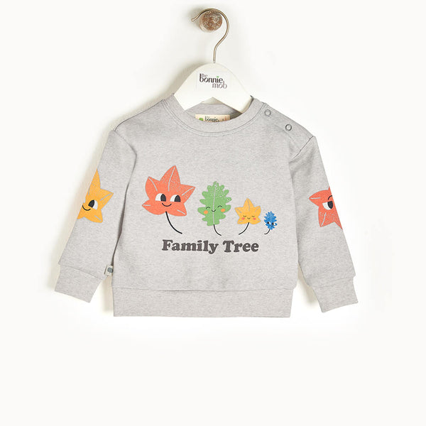 PERRY - Baby Sweatshirt GREY - The bonniemob