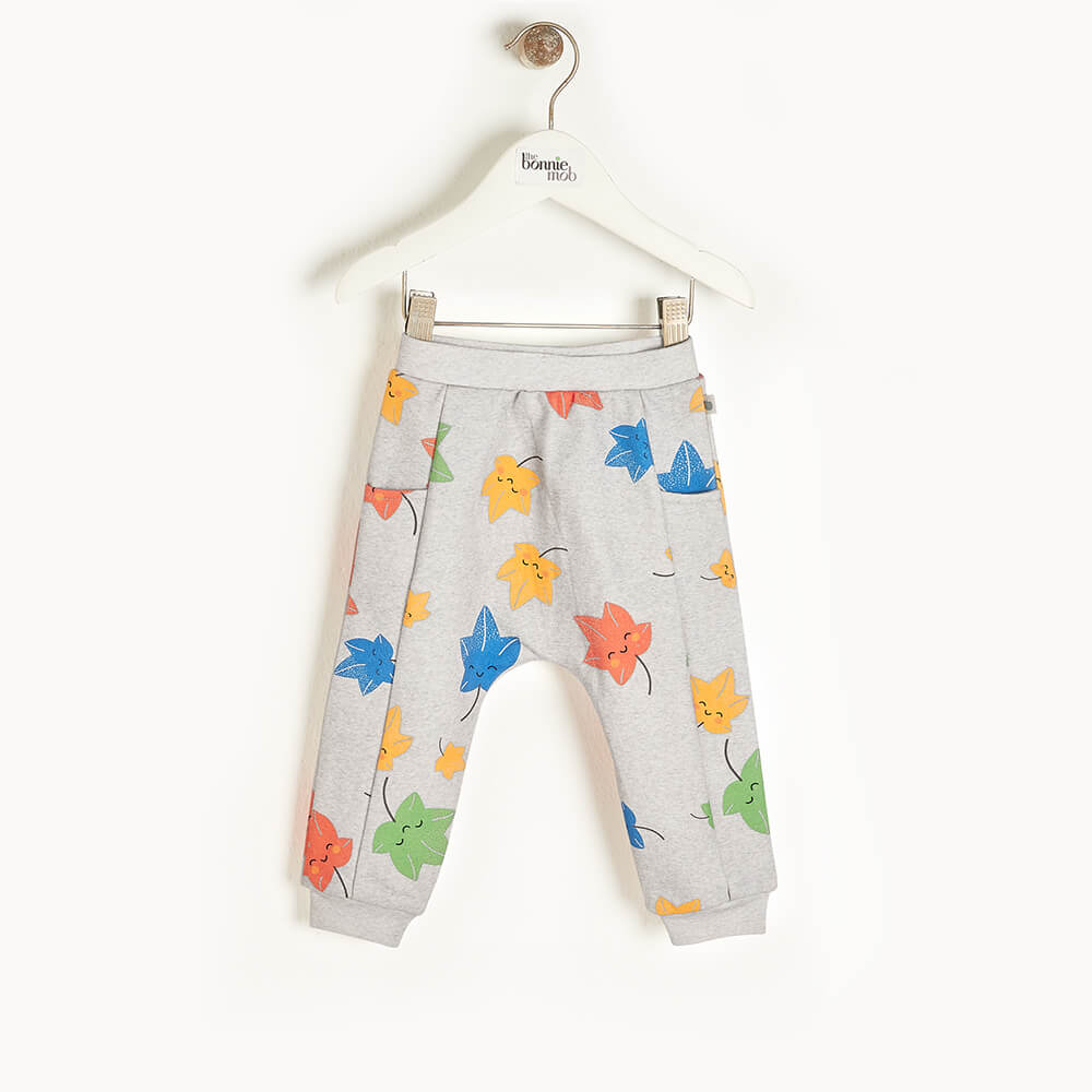 PINE - Baby Jogging Trousers GREY - The bonniemob
