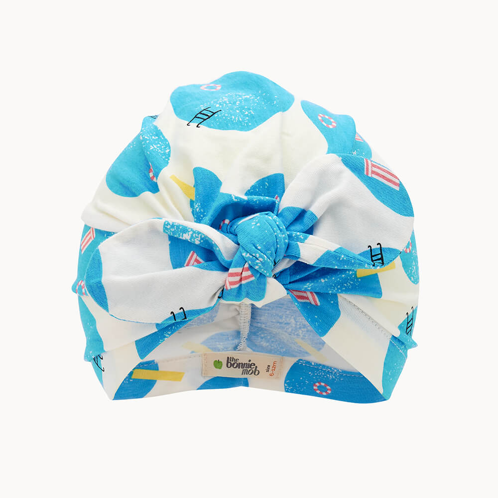 PLUNGE - Baby Turban Baby Hat POOLS - The bonniemob
