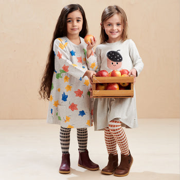POPPY KIDS - Dress With Pockets  GREY - The bonniemob