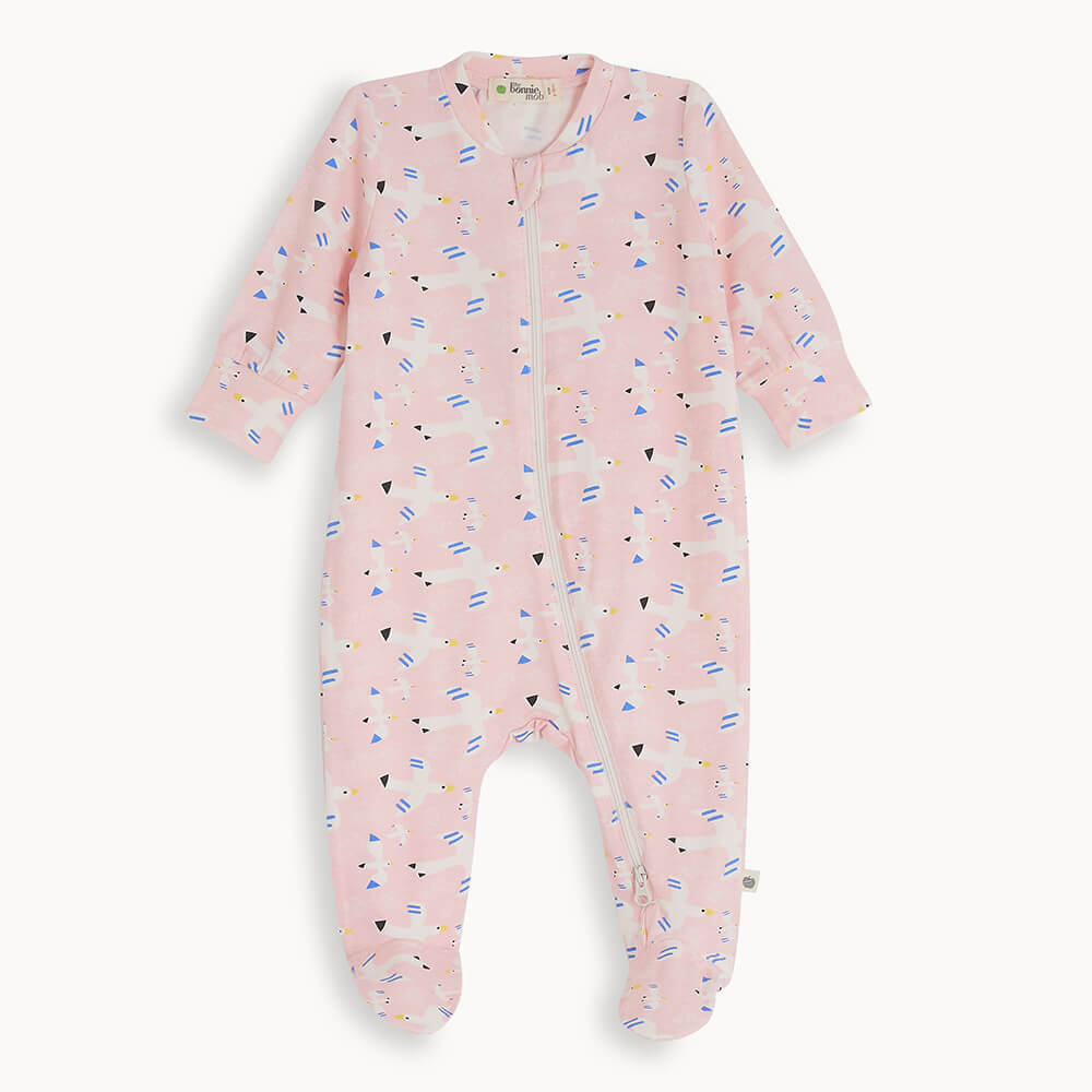 RELAX - Baby Zip Front Sleepsuit FREE BIRD - The bonniemob