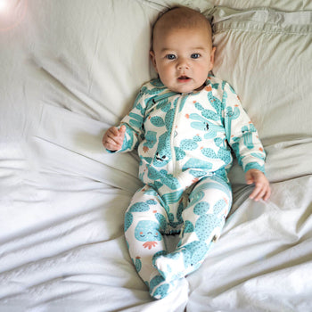 RELAX - Baby Zip Front Sleepsuit CACTUS - The bonniemob