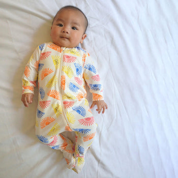 RELAX - Baby Zip Front Sleepsuit SUNSHINE - The bonniemob