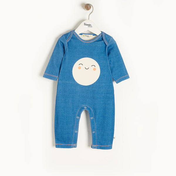 SCOUT - Baby Playsuit DENIM - The bonniemob