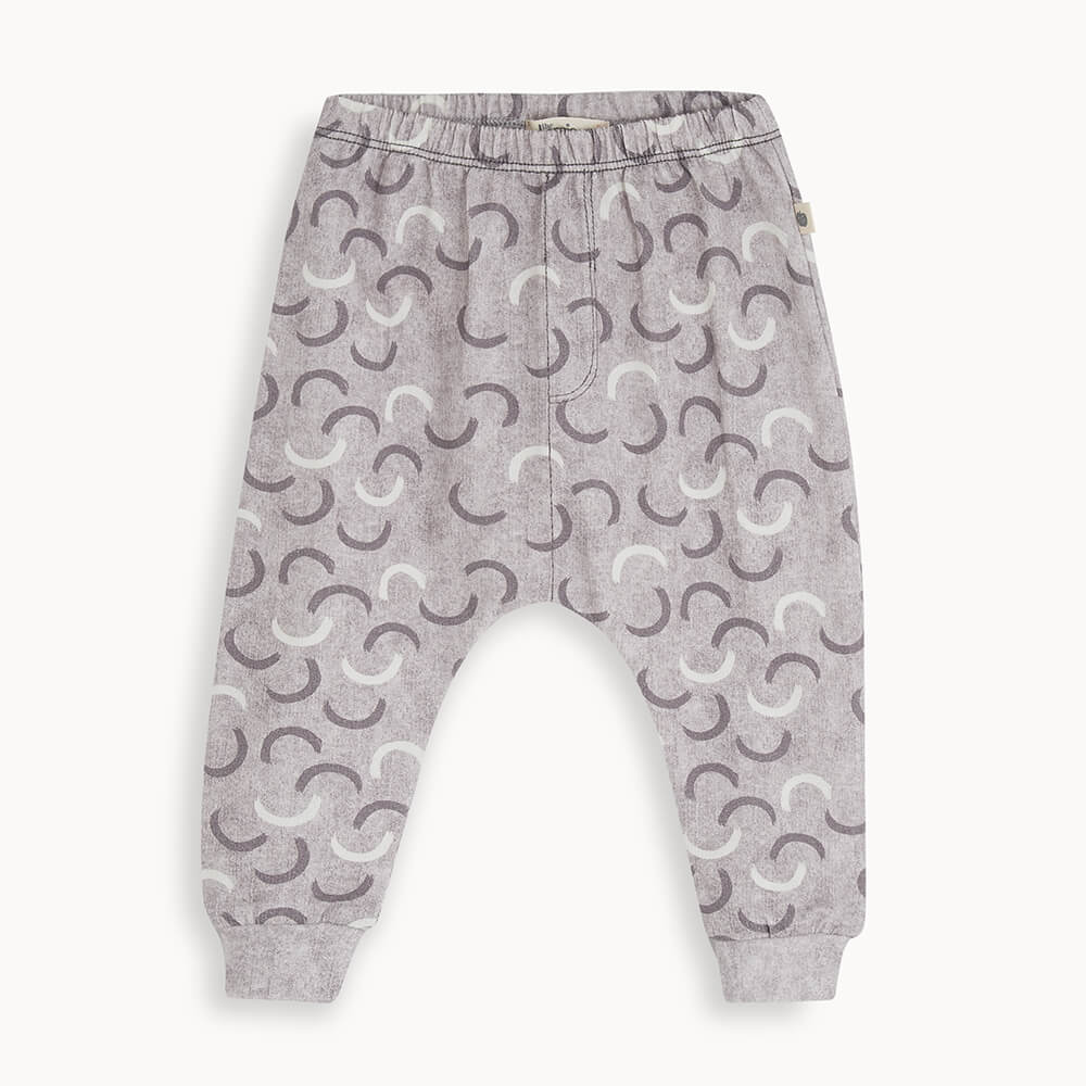 SIERRA - Baby Printed Jogger GREY DENIM WAVES - The bonniemob