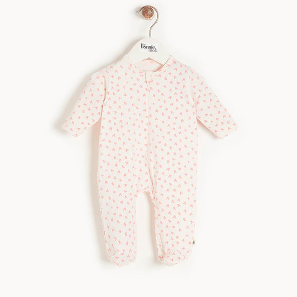 SLEEPY - Baby Bunnies Zip Sleepsuit PINK - The bonniemob