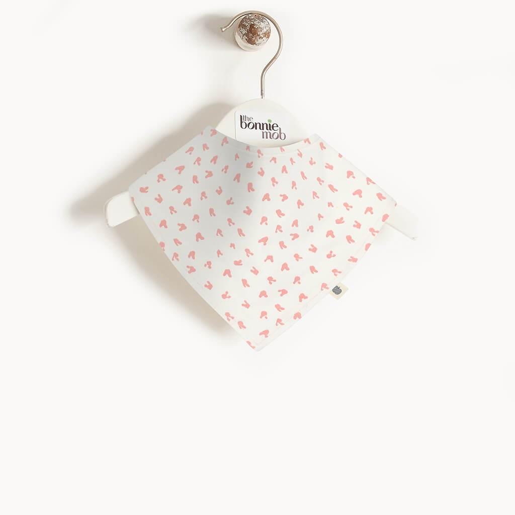 SLURP - Baby Bunnies Dribble Bib PINK - The bonniemob