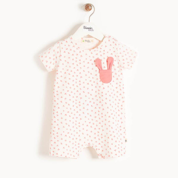 SNUG - Baby Bunny Shorty Playsuit PINK - The bonniemob