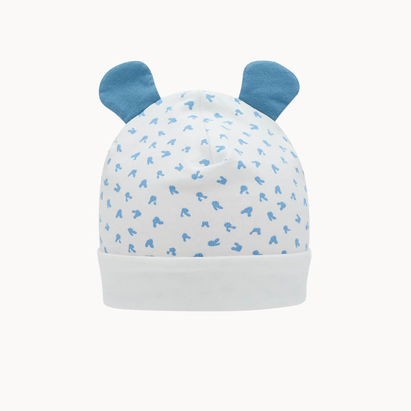 SOFTIE - Baby Bunnies Hat With Ears BLUE - The bonniemob