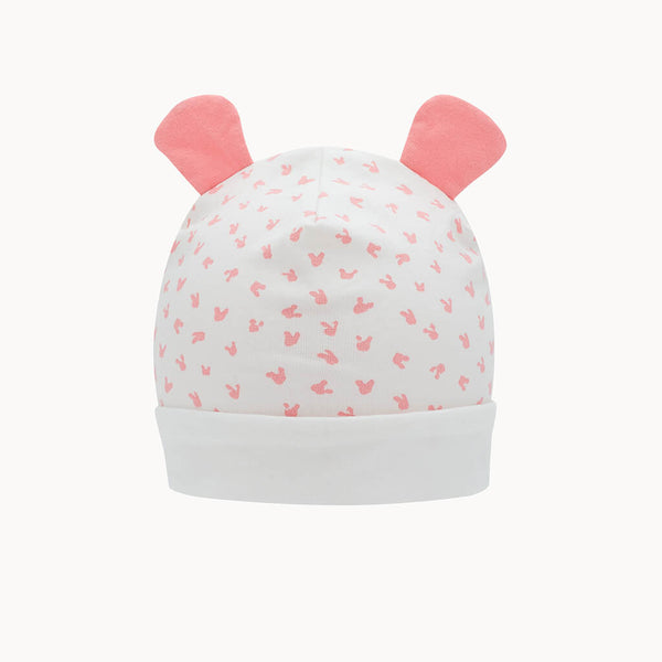SOFTIE - Baby Bunnies Hat With Ears PINK - The bonniemob