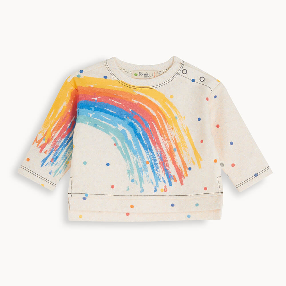 SOLANO - Baby Sweatshirt RAINBOW - The bonniemob