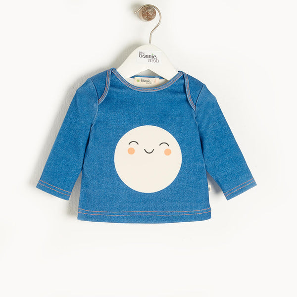 SPACE - Baby T-Shirt DENIM - The bonniemob