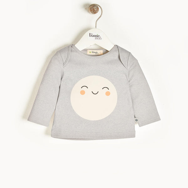 SPACE - Baby T-Shirt GREY - The bonniemob