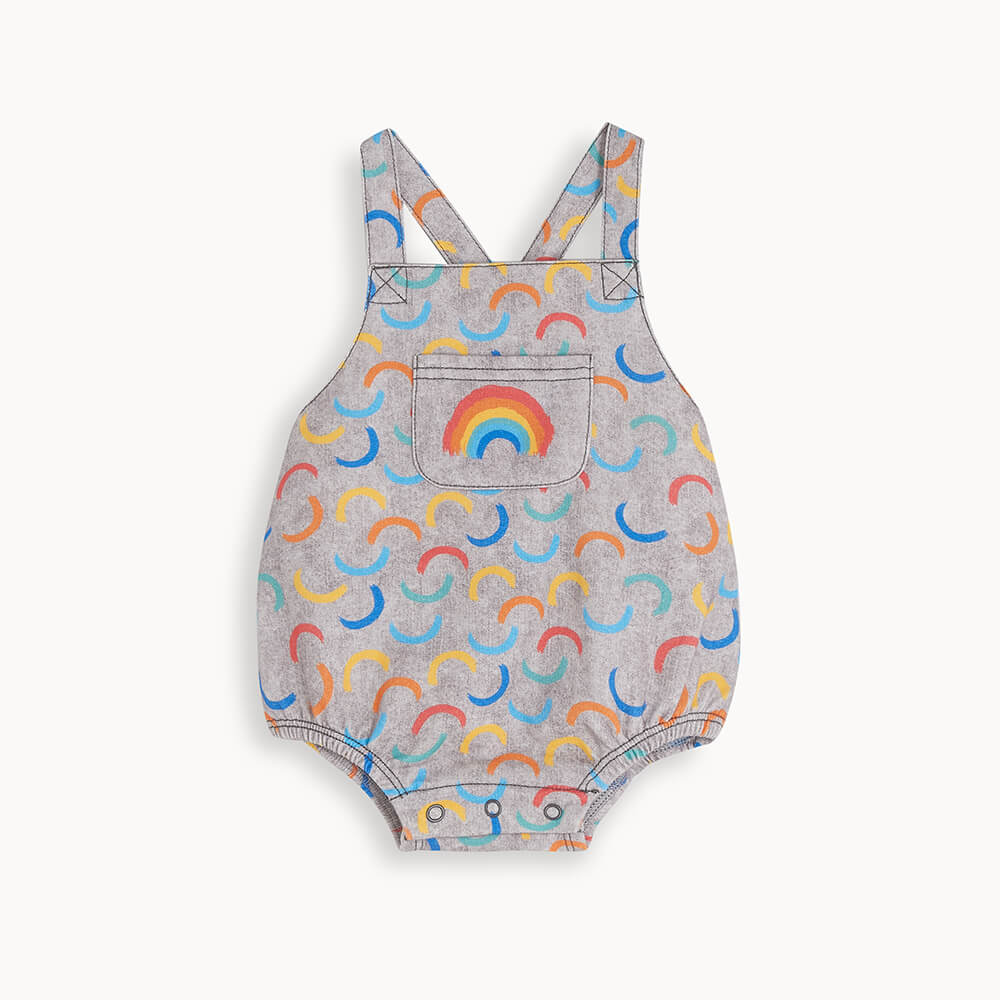 STANLEY - Baby Bubble Romper GREY DENIM WAVES - The bonniemob