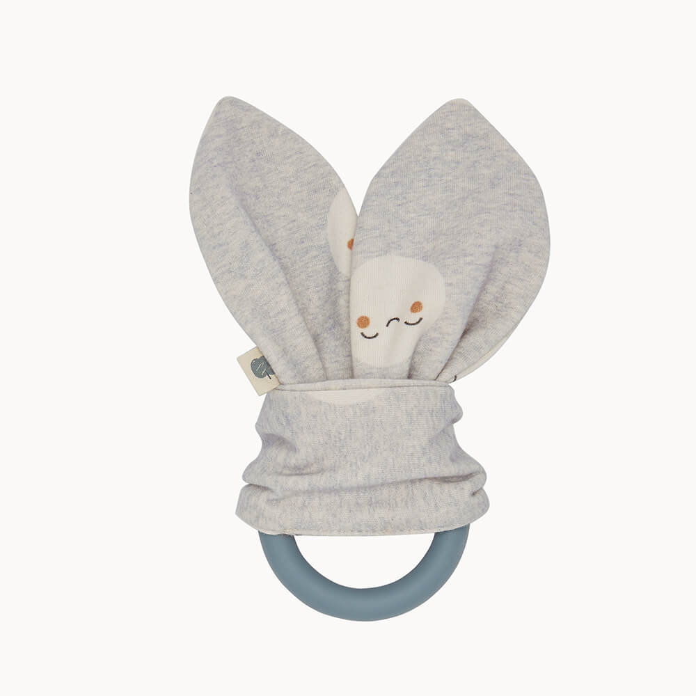 STARRY - Baby Teething Ring GREY - The bonniemob