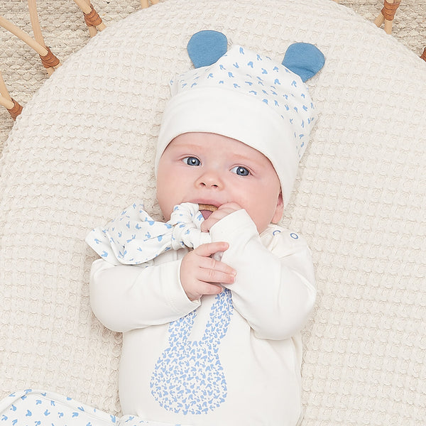 SKYLAR - Baby Bunny Bodysuit BLUE - The bonniemob