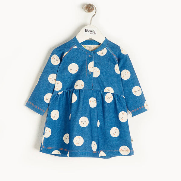 SUPERNOVA - Baby Dress DENIM - The bonniemob