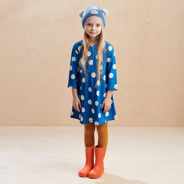 MARS - Kids Moon Jaquard Pom Pom Hat  BLUE - The bonniemob
