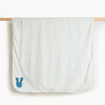 COTTONTAIL GIFT SET - Baby Blanket + Teether Set BLUE - The bonniemob