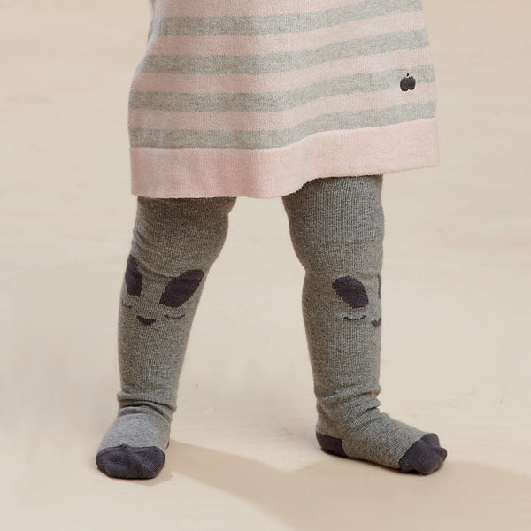 THUMPER - Baby Bunny Face Tights GREY - The bonniemob