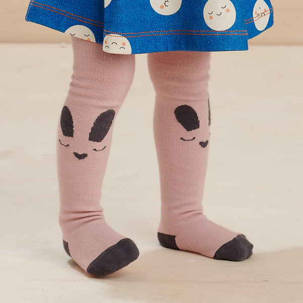 THUMPER - Baby Bunny Face Tights PINK - The bonniemob