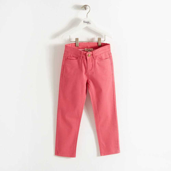 SMARTIE - Regular Fit Baby Girl Jeans - Raspberry - The bonniemob